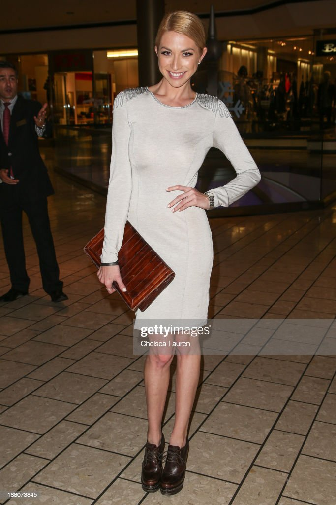 TV personality Stassi Schroeder arrives at the Genlux new issue launch party hosted by Lisa Vanderpump on November 14, 2013 in Beverly Hills, California.