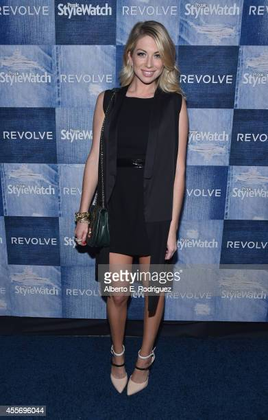 TV personality Stassi Schroeder attends the People StyleWatch Denim Event at The Line on September 18 2014 in Los Angeles California