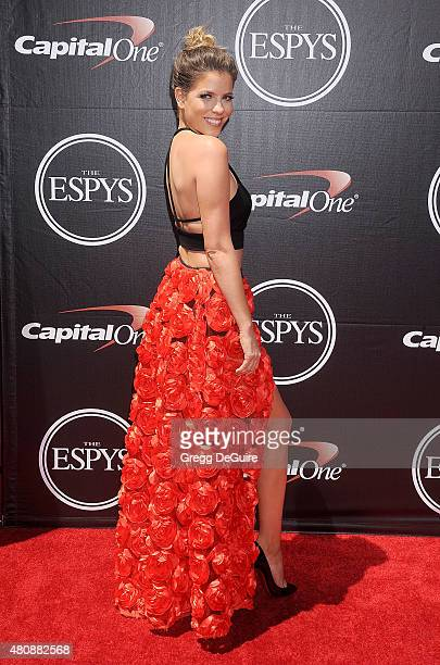 TV personality Stephanie Bauer arrives at The 2015 ESPYS at Microsoft Theater on July 15 2015 in Los Angeles California