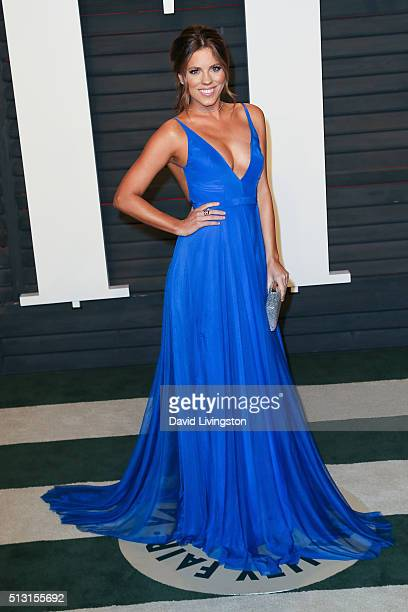 TV personality Stephanie Bauer arrives at the 2016 Vanity Fair Oscar Party Hosted by Graydon Carter at the Wallis Annenberg Center for the Performing...