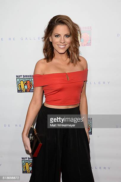 TV personality Stephanie Bauer arrives at the Best Buddies 'The Art of Friendship' Benefit Photo Auction hosted by De Re Gallery on March 3 2016 in...