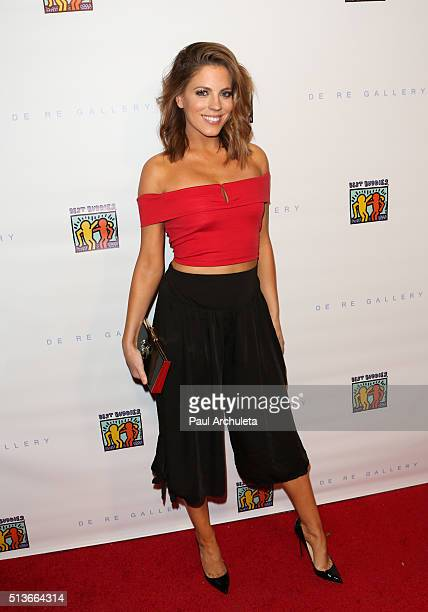 Personality Stephanie Bauer attends Best Buddies The Art Of Friendship at De Re Gallery on March 3 2016 in West Hollywood California