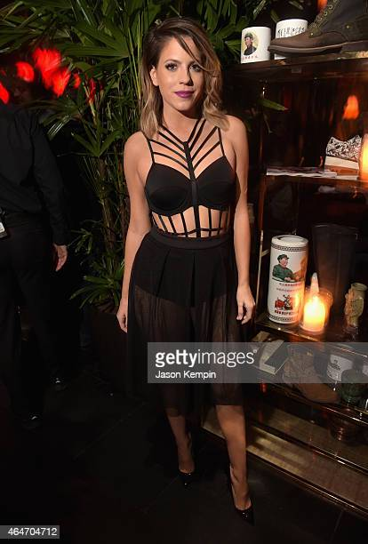 TV personality Stephanie Bauer attends NYLON Magazine's Spring Fashion Issue Celebration hosted by Rita Ora at Blind Dragon on February 27 2015 in...