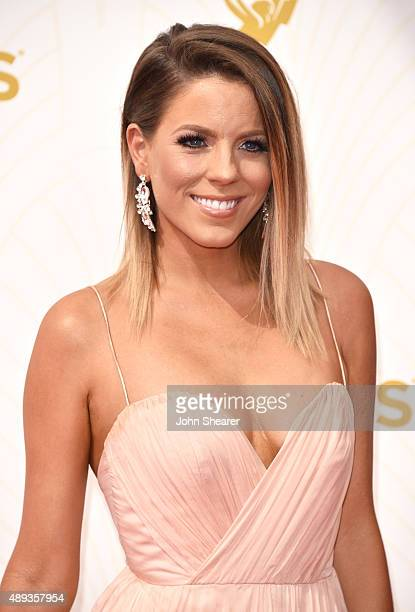 TV personality Stephanie Bauer attends the 67th Annual Primetime Emmy Awards at Microsoft Theater on September 20 2015 in Los Angeles California