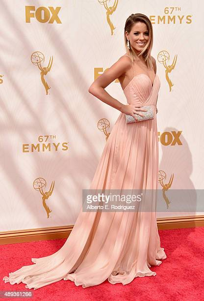 TV personality Stephanie Bauer attends the 67th Emmy Awards at Microsoft Theater on September 20 2015 in Los Angeles California 25720_001