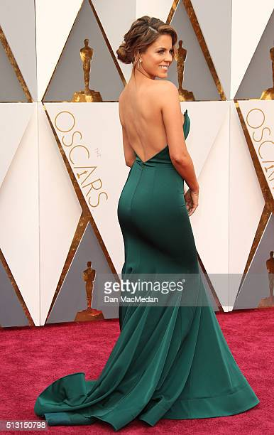 TV personality Stephanie Bauer attends the 88th Annual Academy Awards at Hollywood Highland Center on February 28 2016 in Hollywood California