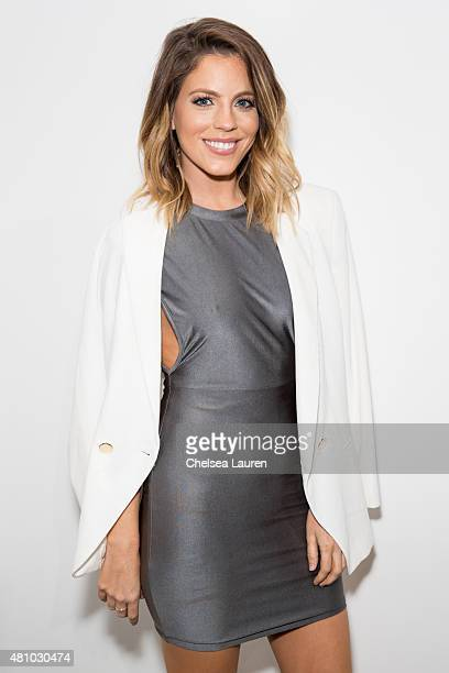 TV personality Stephanie Bauer attends the 'Desert Voices' opening exhibition at De Re Gallery on July 16 2015 in West Hollywood California