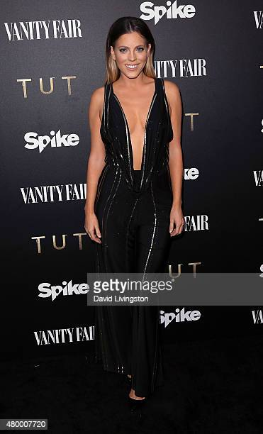 TV personality Stephanie Bauer attends the Vanity Fair and Spike TV celebration of the premiere of the new series 'TUT' at Chateau Marmont on July 8...