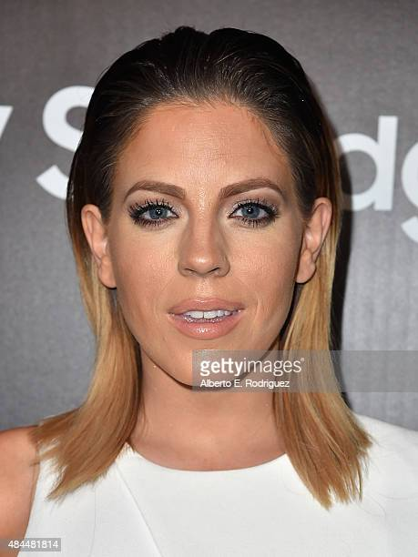 TV personality Stephanie Bower attends the Samsung Galaxy S6 Edge Plus and Note 5 Launch party on August 18 2015 in West Hollywood California