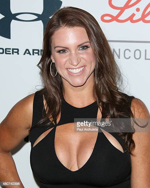 Personality Stephanie McMahon attends the 2015 Sports Humanitarian Of The Year Awards at The Conga Room at LA Live on July 14 2015 in Los Angeles...