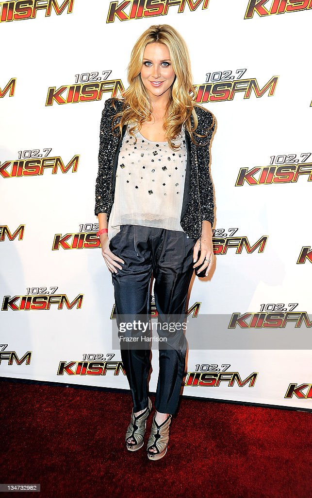 TV Personality Stephanie Pratt arrives at the KIIS FM's Jingle Ball 2011 at Nokia Theatre L.A. Live on December 3, 2011 in Los Angeles, California.