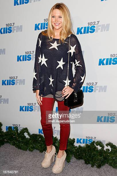 TV personality Stephanie Pratt attends KIIS FM's 2012 Jingle Ball at Nokia Theatre LA Live on December 3 2012 in Los Angeles California