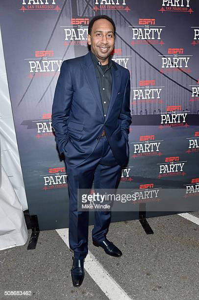 TV personality Stephen A Smith attends ESPN The Party on February 5 2016 in San Francisco California