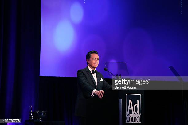 TV personality Stephen Colbert attends Ad Council's 61st Annual Public Service Award Dinner at The Waldorf=Astoria on November 19 2014 in New York...