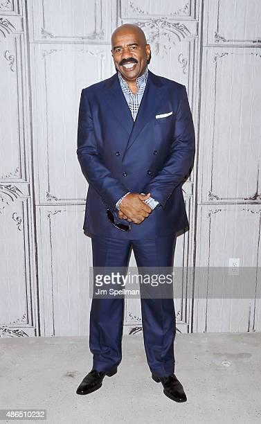 TV personality Steve Harvey attends the AOL BUILD Speaker Series Steve Harvey at AOL Studios In New York on September 4 2015 in New York City