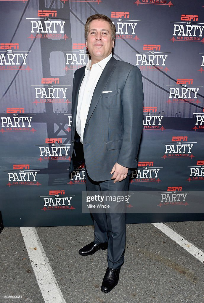 TV personality Steve Levy attends ESPN The Party on February 5, 2016 in San Francisco, California.