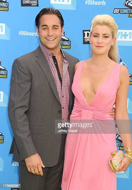 TV personality Steven B Ward and model Madison Pard arrive at the DoSomethingorg and VH1's 2013 Do Something Awards at Avalon on July 31 2013 in...