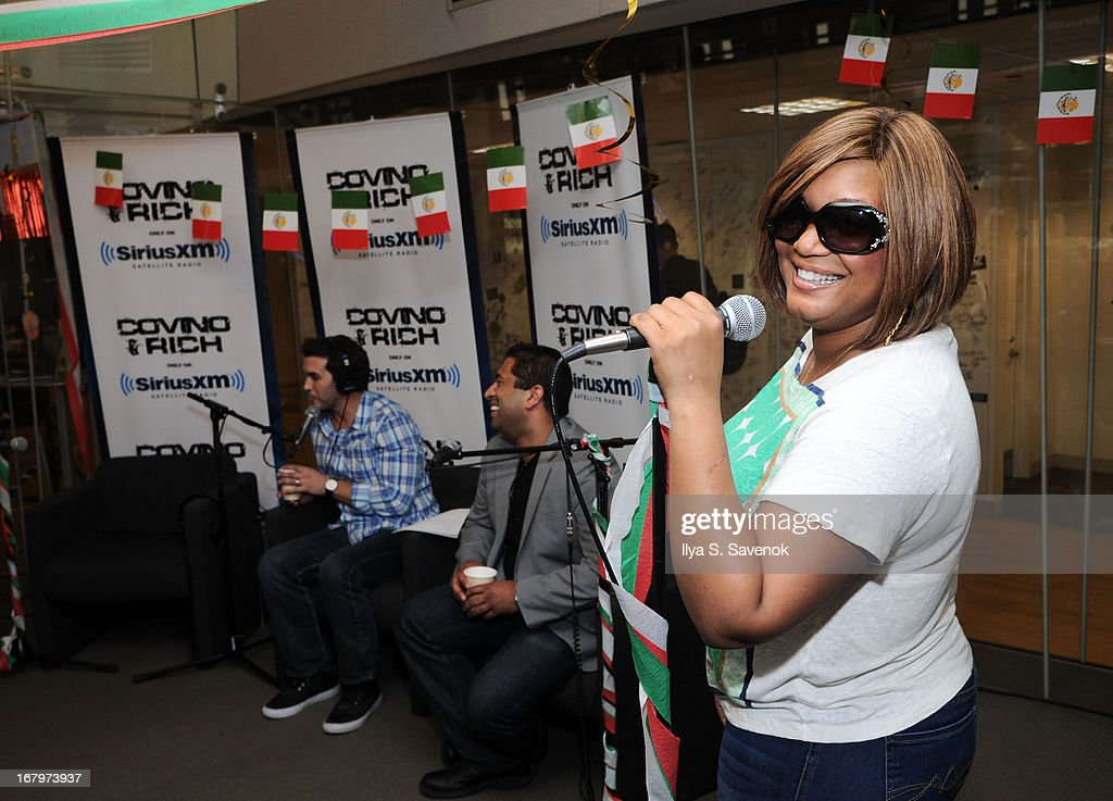 TV personality Sunny Anderson attends SiriusXM hosts Covino & Rich's annual Cinco de Mayo Guac-Off at SiriusXM studios on May 3, 2013 New York City the SiriusXM Studios on May 3, 2013 in New York City.