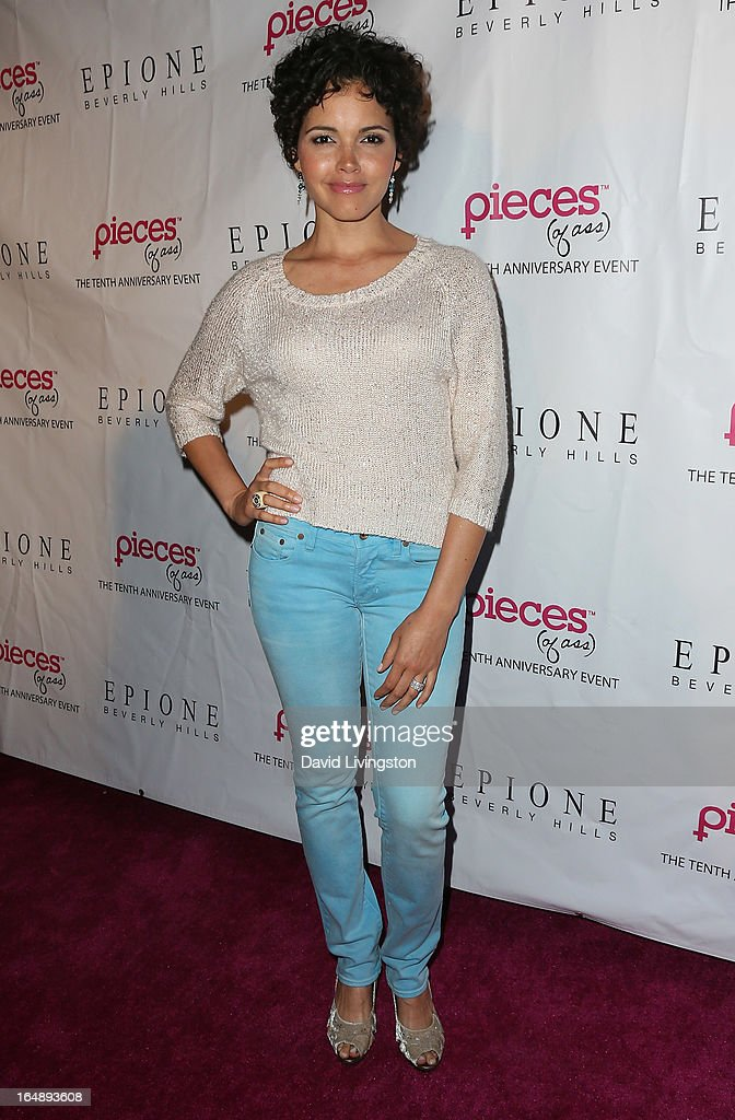 TV personality <a gi-track='captionPersonalityLinkClicked' href=/galleries/search?phrase=Susie+Castillo&family=editorial&specificpeople=214256 ng-click='$event.stopPropagation()'>Susie Castillo</a> attends the 'Pieces (of Ass)' opening night Los Angeles performance at The Fonda Theatre on March 28, 2013 in Los Angeles, California.