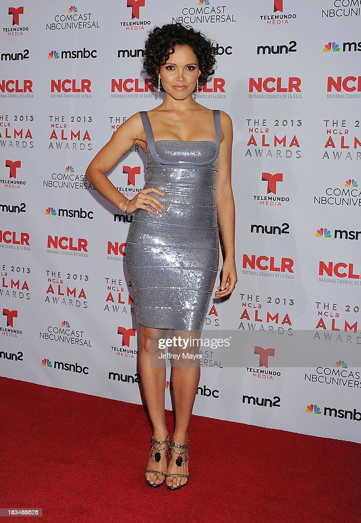 TV personality Susie Castillo poses in the press room at the 2013 NCLA ALMA Awards at Pasadena Civic Auditorium on September 27 2013 in Pasadena...