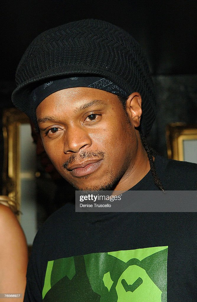 MTV personality Sway Calloway poses for photos at Oakley's PreVMA Party at Body English at The Hard Rock Hotel and Casino Resort on September 06 2007...