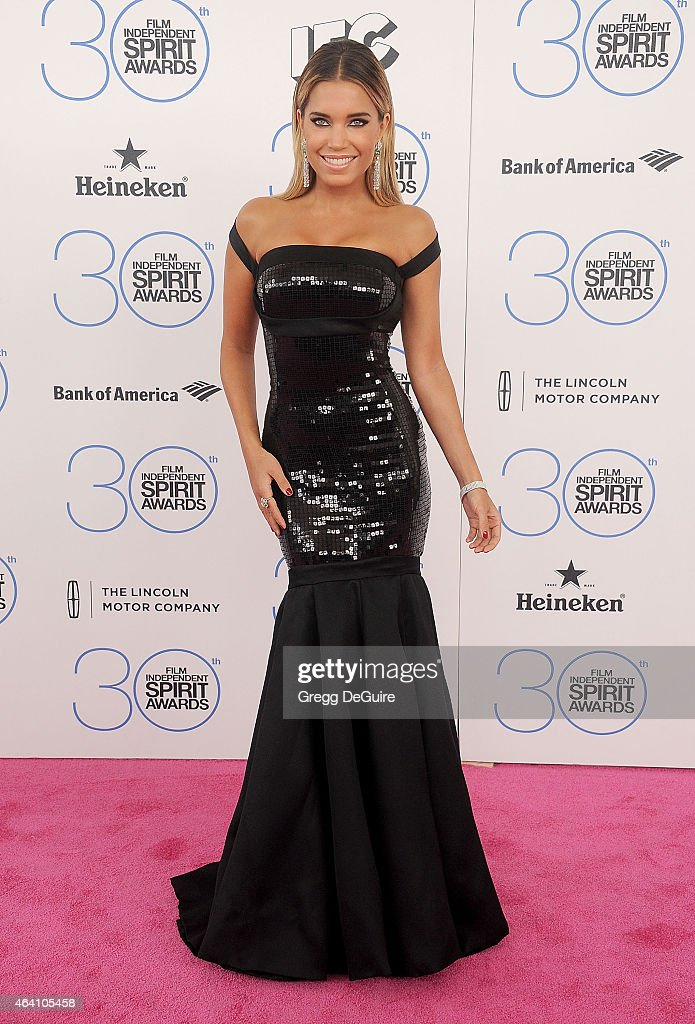 TV personality <a gi-track='captionPersonalityLinkClicked' href=/galleries/search?phrase=Sylvie+Meis&family=editorial&specificpeople=538310 ng-click='$event.stopPropagation()'>Sylvie Meis</a> arrives at the 2015 Film Independent Spirit Awards on February 21, 2015 in Santa Monica, California.