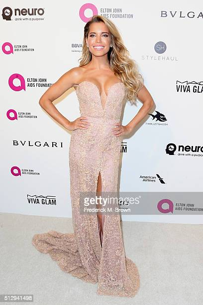 TV personality Sylvie Meis attends the 24th Annual Elton John AIDS Foundation's Oscar Viewing Party on February 28 2016 in West Hollywood California