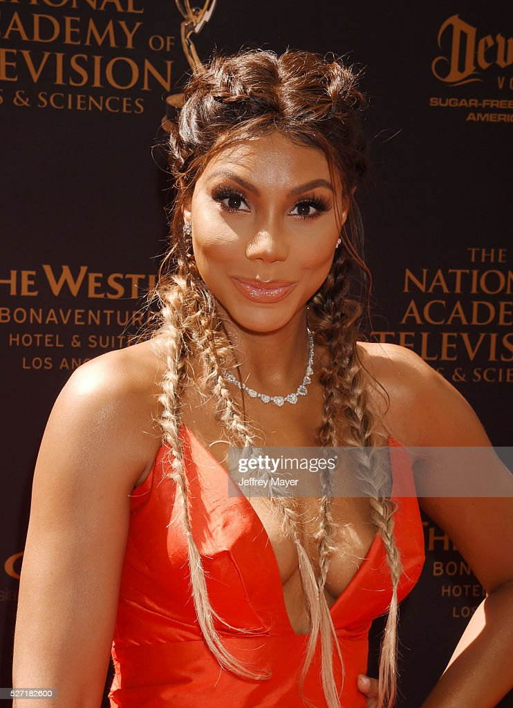 TV personality Tamar Braxton attends the 2016 Daytime Emmy Awards - Arrivals at Westin Bonaventure Hotel on May 1, 2016 in Los Angeles, California.