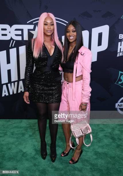 TV personality Tami Roman and Jazz Anderson attend the BET Hip Hop Awards 2017 at The Fillmore Miami Beach at the Jackie Gleason Theater on October 6...
