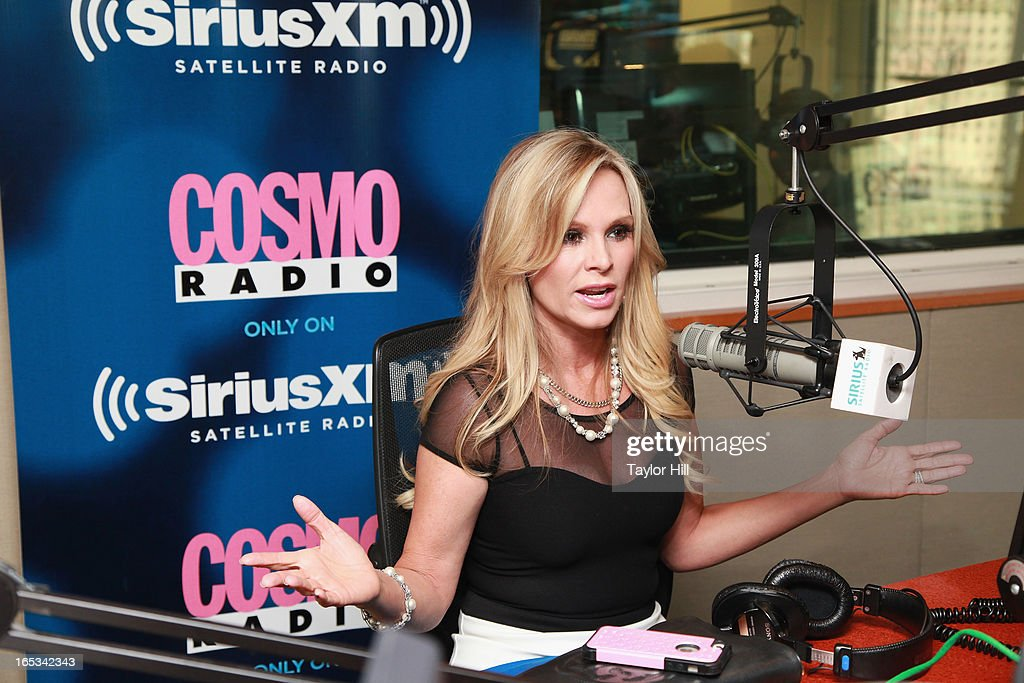 TV personality Tamra Barney appears on 'Wake Up with Taylor' on Cosmo Radio at SiriusXM Studios on April 2, 2013 in New York City.