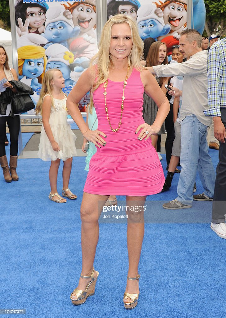 TV personality Tamra Barney arrives at the Los Angeles Premiere 'Smurfs 2' at Regency Village Theatre on July 28, 2013 in Westwood, California.