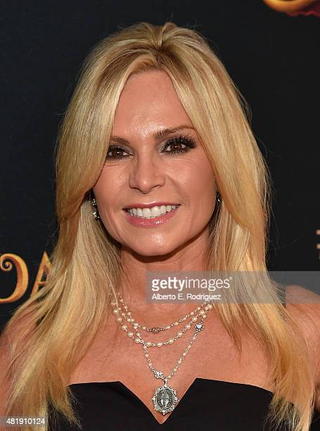 TV personality Tamra Barney attends the premiere of Disney Channel's 'Descendants' at Walt Disney Studios on July 24 2015 in Burbank California