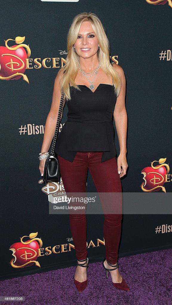 TV personality Tamra Barney attends the premiere of Disney's 'Descendants' at Walt Disney Studios main theater on July 24, 2015 in Burbank, California.