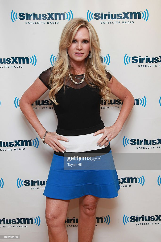TV personality Tamra Barney visits the SiriusXM Studios on April 2, 2013 in New York City.