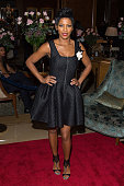 TV personality Tamron Hall attends Aretha Franklin's Birthday Celebration at the Ritz Carlton Hotel on March 22 2015 in New York City