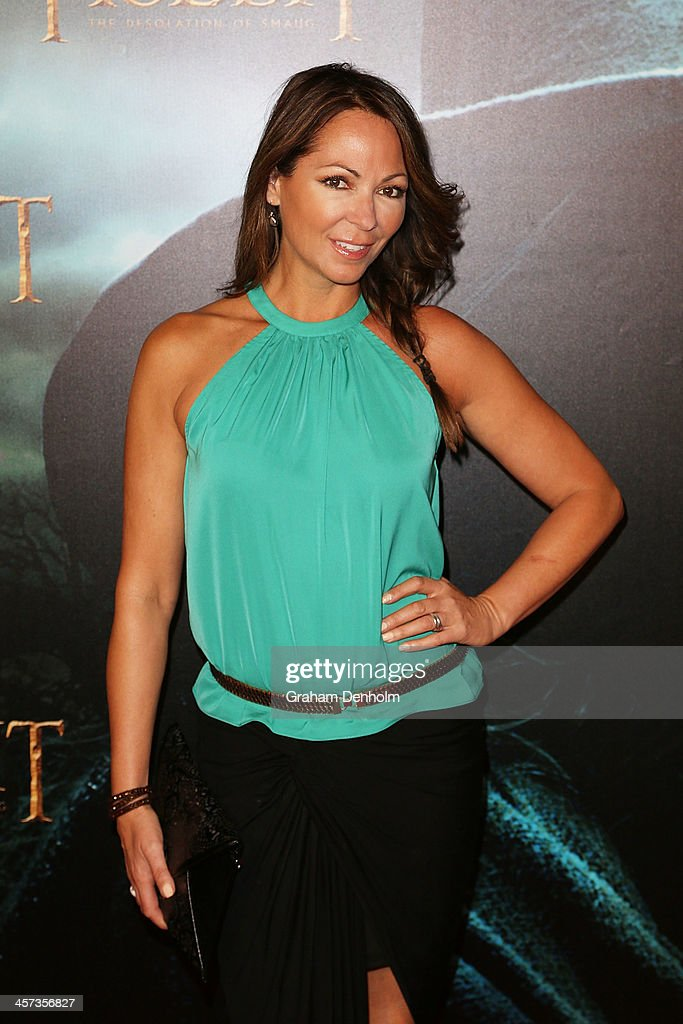 TV personality <a gi-track='captionPersonalityLinkClicked' href=/galleries/search?phrase=Tania+Zaetta&family=editorial&specificpeople=206963 ng-click='$event.stopPropagation()'>Tania Zaetta</a> arrives at the premiere of 'The Hobbit: Demolition Of Smaug' at Village Cinemas Rivoli on December 17, 2013 in Melbourne, Australia.