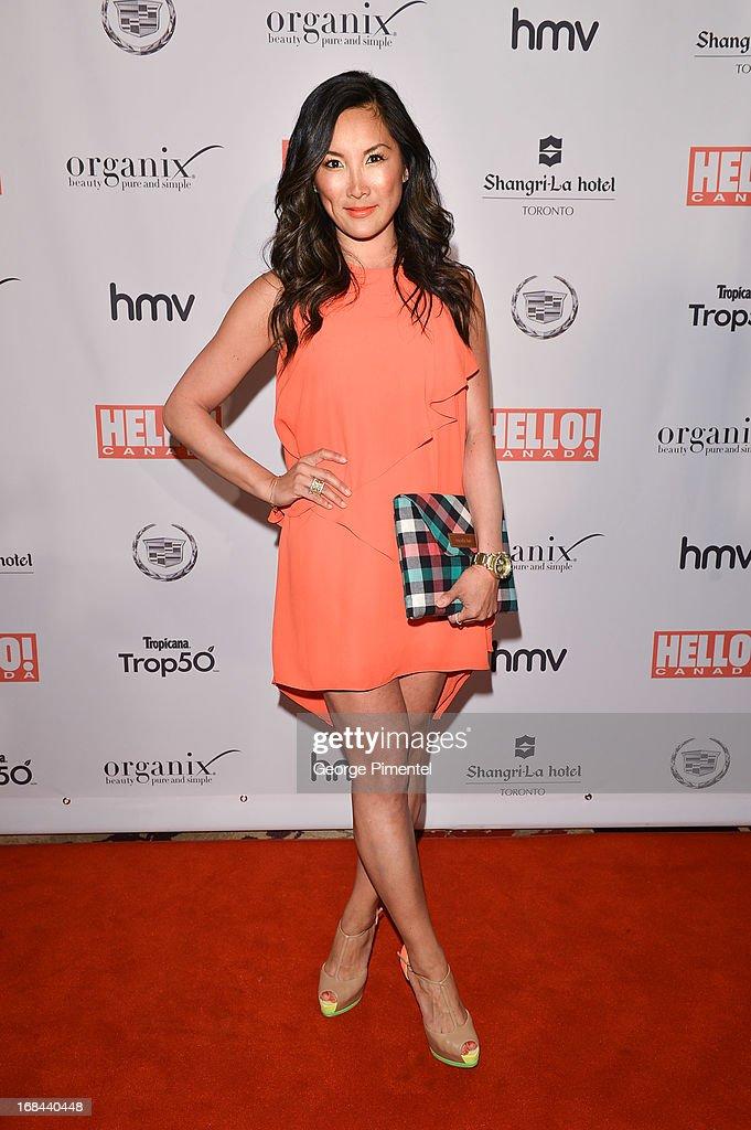 TV personality Tanya Kim arrives at Hello! Canada gala celebrating Canada's 50 most beautiful at Shangri-La Hotel on May 9, 2013 in Toronto, Canada.