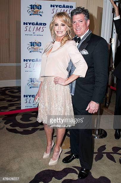 TV personality Taylor Armstrong and John Bluher attend Norby Walters' 24nd Annual Night of 100 Stars Oscar Viewing Gala at Beverly Hills Hotel on...