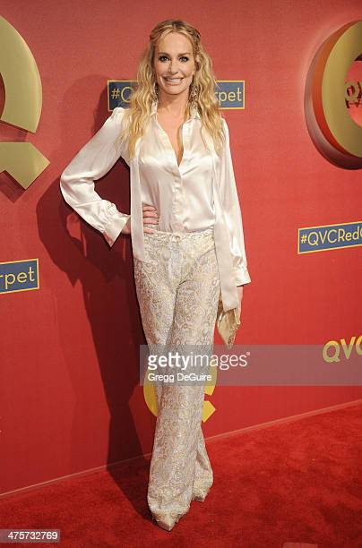 TV personality Taylor Armstrong arrives at the QVC 5th Annual Red Carpet Style event at The Four Seasons Hotel on February 28 2014 in Beverly Hills...