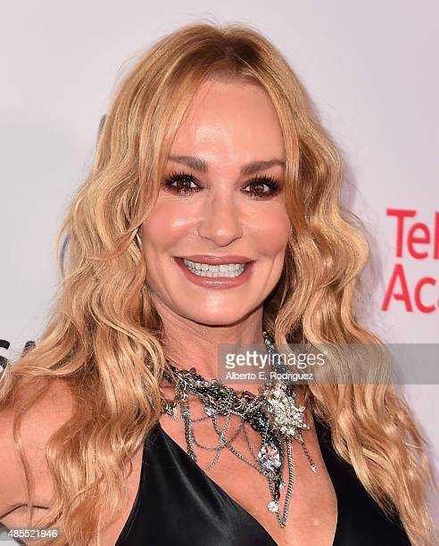 TV personality Taylor Armstrong attends a cocktail party celebrating dynamic and diverse nominees for the 67th Emmy Awards hosted by the Academy of...