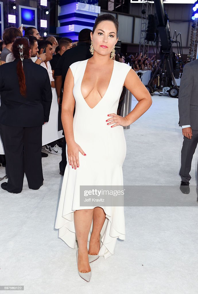 TV personality Taylor Strecker attends the 2016 MTV Video Music Awards at Madison Square Garden on August 28 2016 in New York City