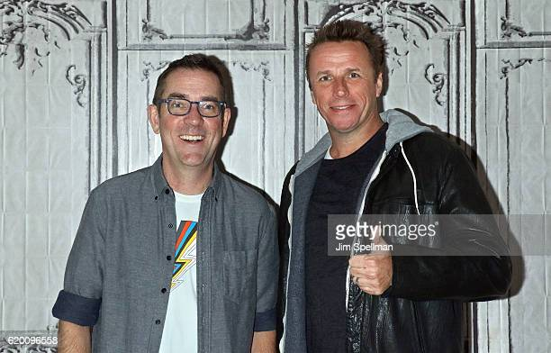 TV personality Ted Allen and chef Marc Murphy attend The Build Series presents 'Chopped' at AOL HQ on November 1 2016 in New York City