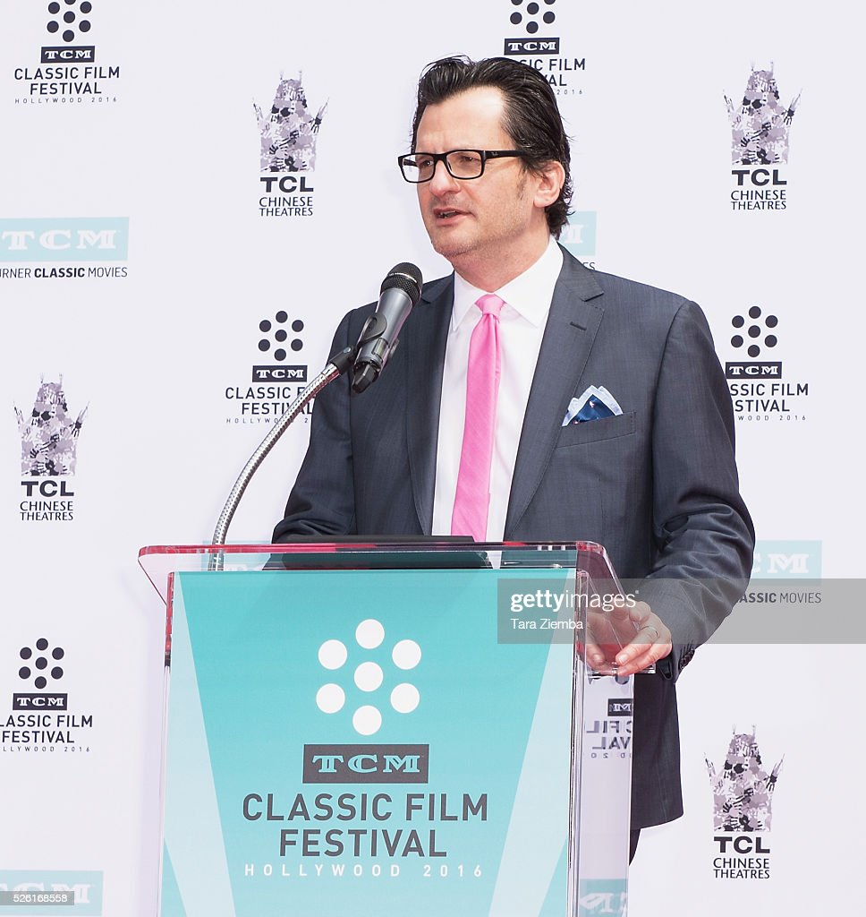 TV Personality Ted Mankiewicz speaks at the Hand/Footprint Ceremony honoring Francis Ford Coppola at TCL Chinese Theatre IMAX on April 29, 2016 in Hollywood, California.
