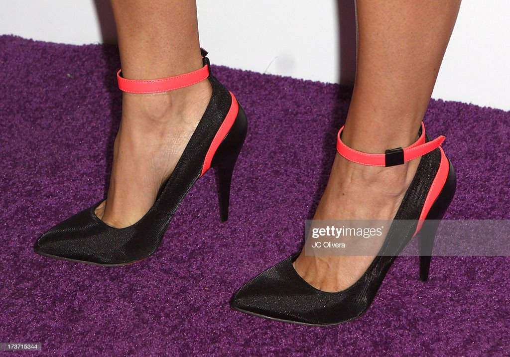 TV personality Tera Perez attends NUVOtv Network Launch Party (shoes detail) at The London West Hollywood on July 16, 2013 in West Hollywood, California.