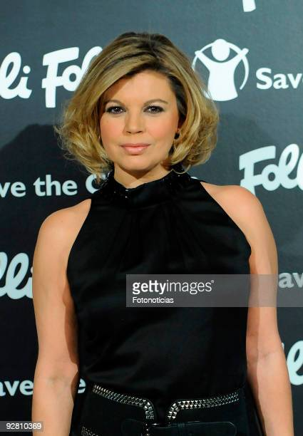 TV personality Terelu Campos attends Folli Follie and Save The Children bracelet launch dinner at the Santo Mauro Hotel on November 5 2009 in Madrid...