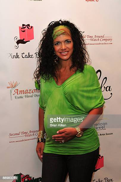 TV personality Teresa Giudice attends a fundraiser for ALS/Lou Gehrig's Disease held by the Real Housewives of New Jersey on July 11 2009 in Paterson...