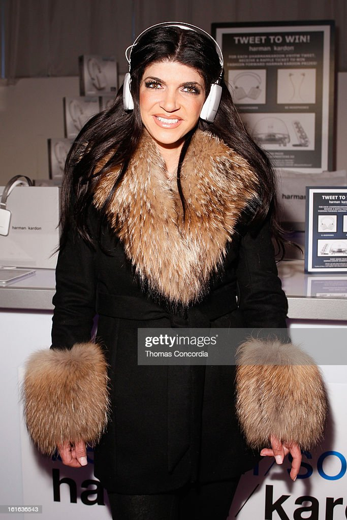 TV personality Teresa Giudice attends Boy Meets Girl by Stacy Igel the 'Invasion Collections' Fashion Show at STYLE360 presented by Conair Fashion Pavilion on February 13, 2013 in New York City.
