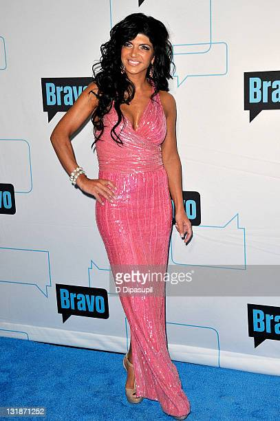 TV personality Teresa Giudice attends the 2011 Bravo Upfront at 82 Mercer on March 30 2011 in New York City
