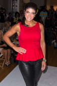 TV personality Teresa Giudice attends the Just Dance with Boy Meets Girl Fashion Show at STYLE360 Fashion Pavilion in Chelsea on September 12 2013 in...