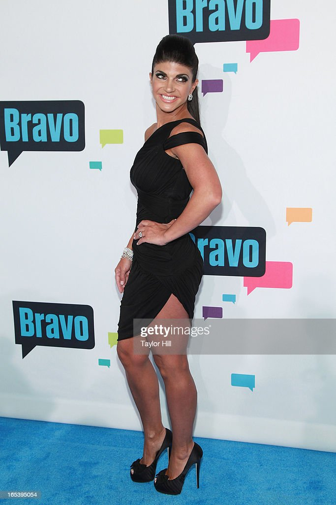 TV personality Teresa Giudice of 'The Real Housewives of New Jersey' attends the 2013 Bravo Upfront at Pillars 37 Studios on April 3, 2013 in New York City.